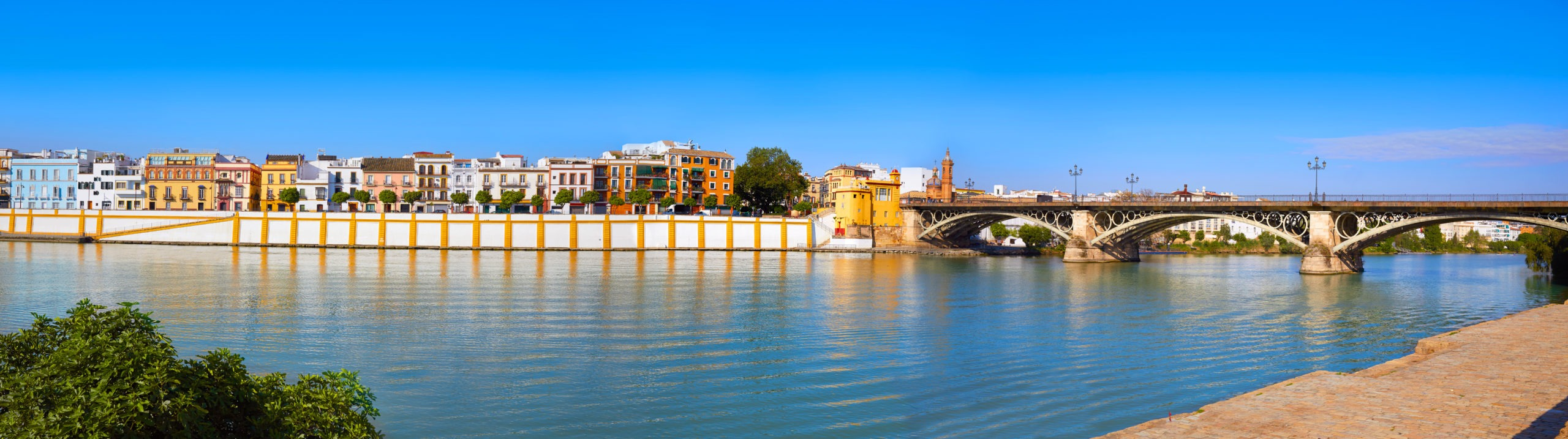 Triana barrio of Seville panoramic Andalusia