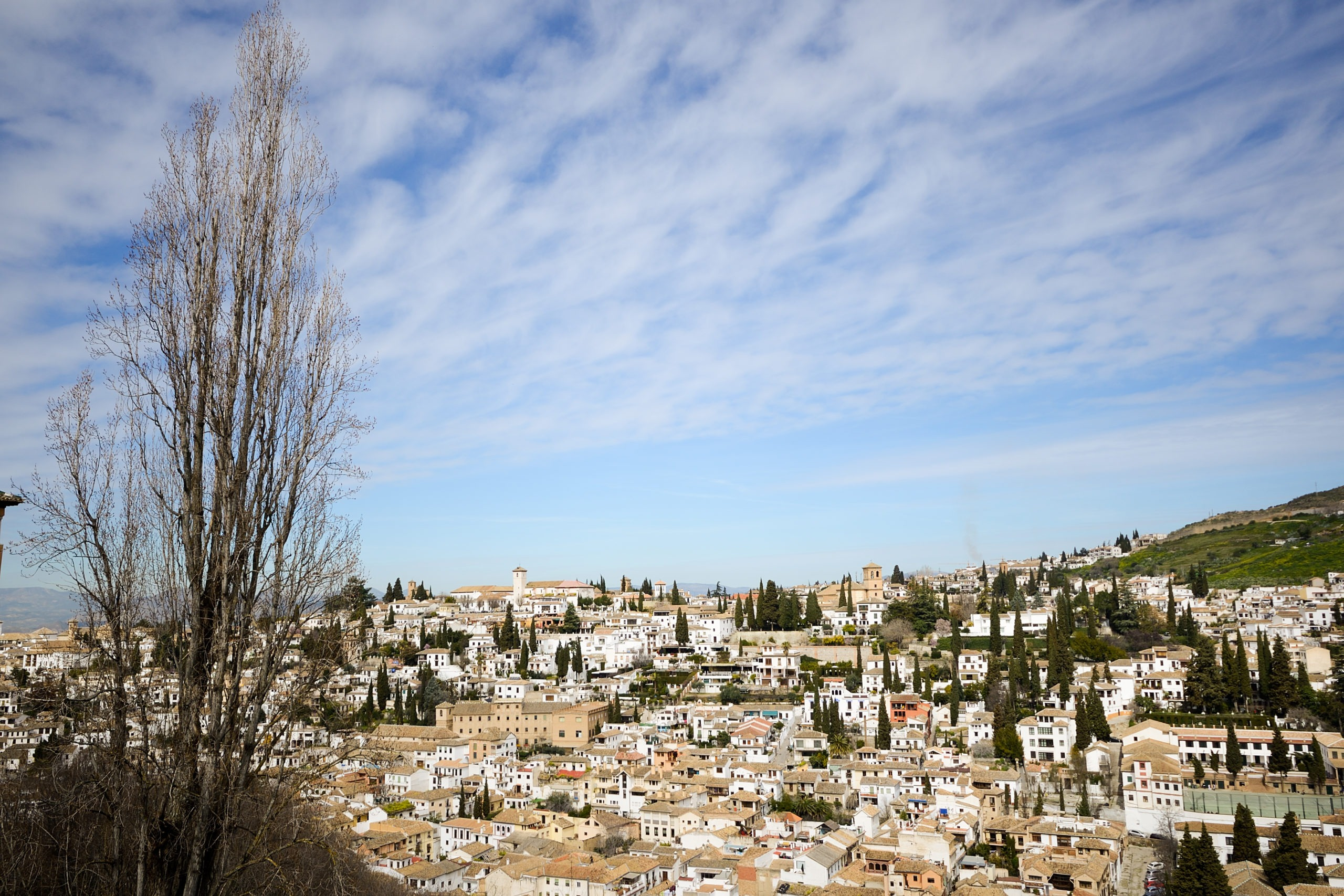 Albaicin seen from the Alhambra in Granada, Andalusia, Spain